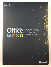 MS Office Mac 2011 Home and Business DVD Vollversion Deutsch Retail Box