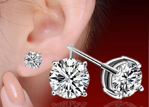 Pendientes de plata 925 Austria AAA Cristal Ear Stud Moda Joyería Regalo