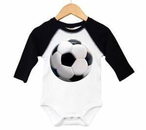 Soccer BALL INFANT Soccer BODYSUIT BABY SOCCER OUTFIT Raglan FUTBOL BABY