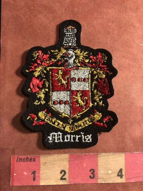 Vtg Circa 1980s ROBERTS Last Name Patch Surname Family Crest Coat Of Arms 95MA