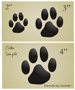Image Is Loading Stencil Paw Prints Dog Puppy Cat Pet Theme