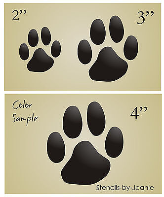 "Paw Print Stencil 5/"" Dog Cat Pet Animal shape Vet Craft Scrapbook Primitive Sign"