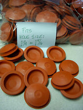 2 Red RUBBER STOPPER for Piggy Banks - FITS 1-1/4 to 1-5/16 - BUY ALL YOU NEED!