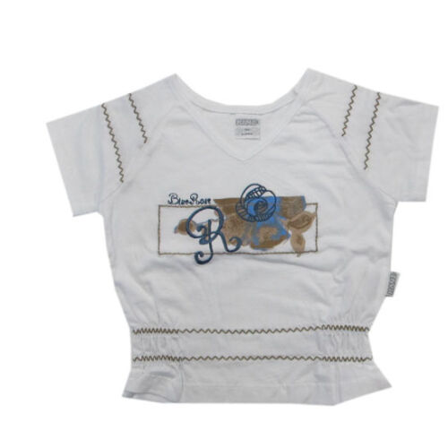 92,104,134 Kanz Shirt kurzarm T-Shirt Weiß kurzarm Mädchen Baumwolle  Gr