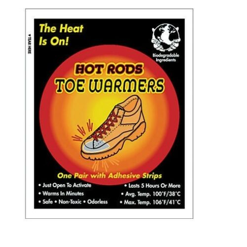 4 PAIRS Occunomix Safety Hot Rods Toe Warmers WARMER NEW IN BAG