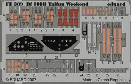 Eduard Accessories Fe389-1:48 Bf 108B Taifun Weekend Für Eduard Bausatz Ätzs