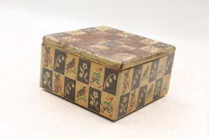Beau-Ancienne-Boite-Collector-Vide-Boite-Tole-Stockage-Old-Vintage-RAR