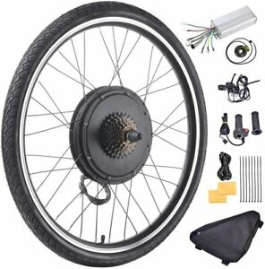 "26"" Electric Bicycle Rear Wheel 48V 1500W Ebike Hub Motor Conversion Kit"
