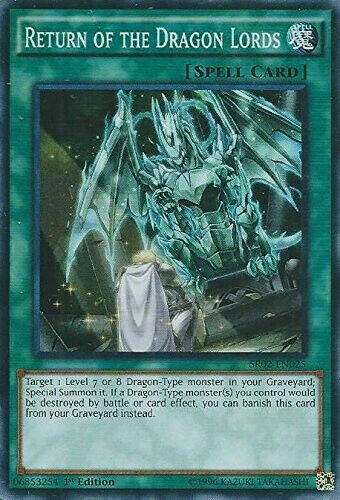 YugiohReturn of the Dragon Lords SR02-EN025 Super Rare NM