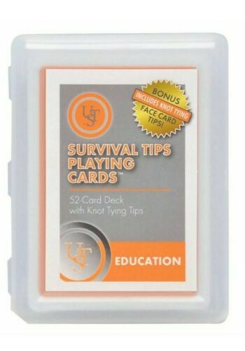 Ultimate Survival Technologies Survival Tips Playing Cards-Avec Noeud Tips /& plus