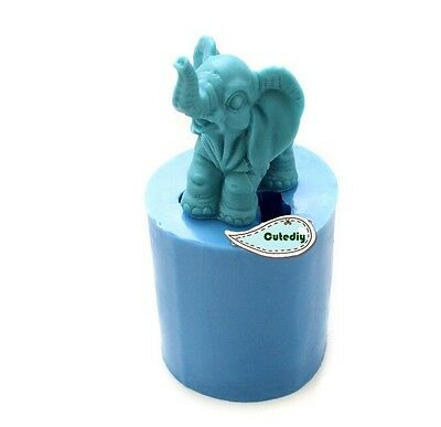 Soap Mold 3D Elephant Flexible Silicone Mold For Soap Candy Icing Craft