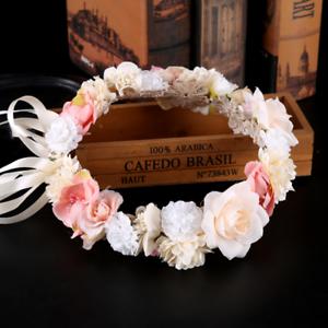 Princess pink white daisy flower tiara garland wedding bridal image is loading princess pink white daisy flower tiara garland wedding mightylinksfo