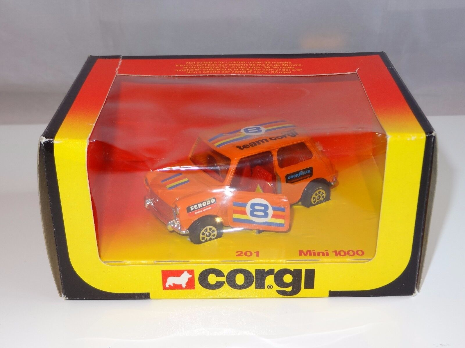 Corgi MINI 1000 - ultra rare orange colour - 201