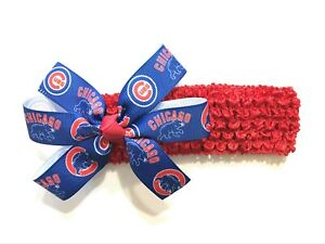 Chicago Cubs Baby Bow Headband
