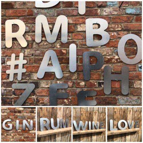 R Lettering Letters GALVANIZED Metal Shop Home Sign Rustic Words bar cafe pub
