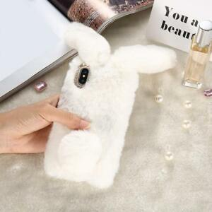 Bling-Diamond-Bunny-Rabbit-Fur-Plush-Fuzzy-Fluffy-Phone-Case-for-iPhone-Samsung
