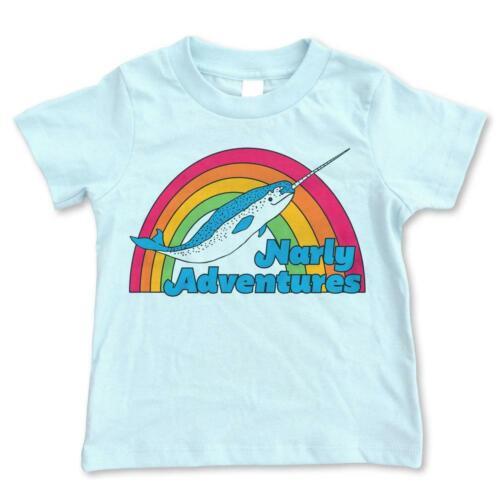Toddler Youth Shirt Narwhal Tee Retro Tee Kids Vintage Tee