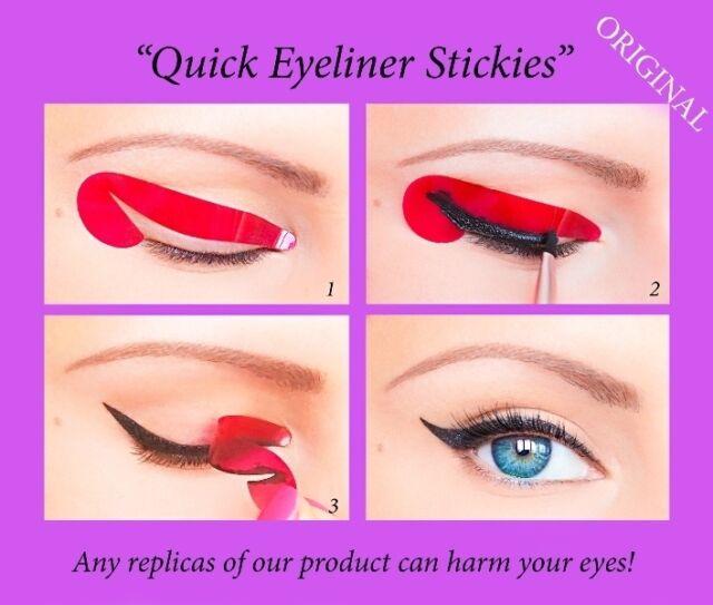 80 pcs Eyeliner Stickies Stencil Quick Eye Makeup Tool Stickers ORIGINAL UK2