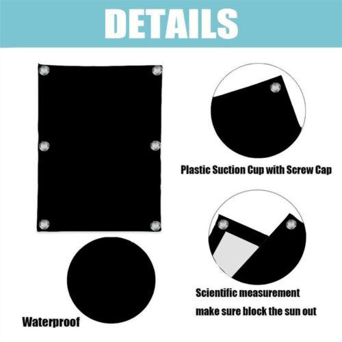 Dachfensterrollo Dunkelgrau Thermo Verdunkelung mit Sauger 98/%UV-Schutz Schwarz