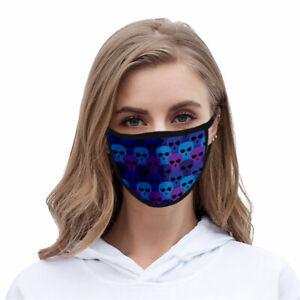 Skull Design Cloth Mask Face Covering Reusable Washable Fashion Men Women USA