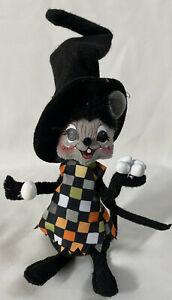 RARE-Annalee-Halloween-Doll-2015-WITCH-MOUSE-Trickster-With-Eggs-6-034