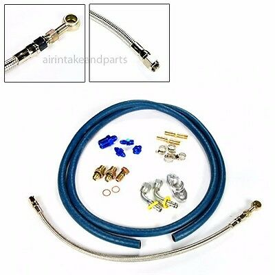 Turbo Charger Oil & Water Feed Drain Line Kit T25 T28 T25/T28 G28 GT25 GT28
