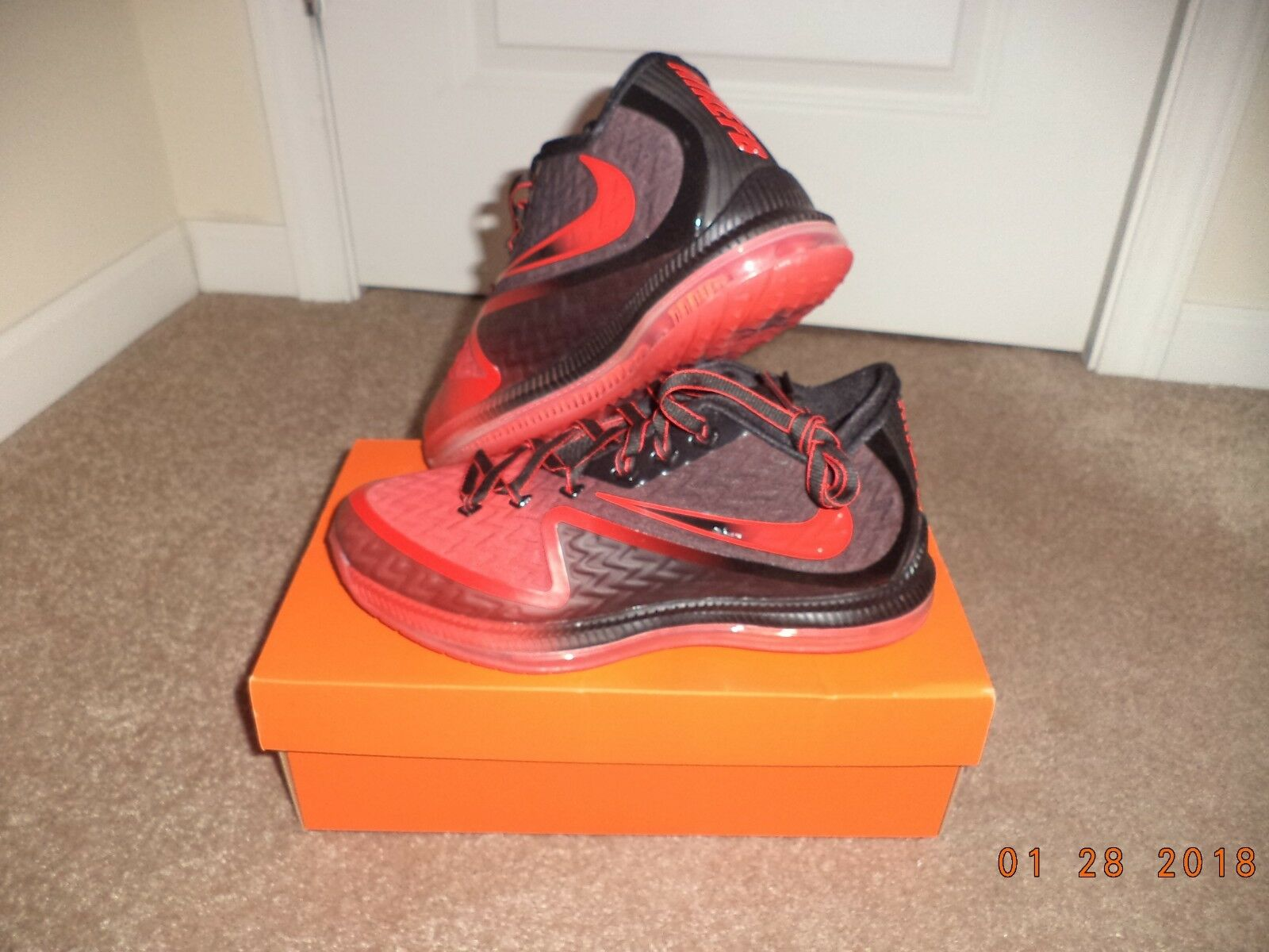 Nike Men's Field General 2 Basketball Shoes BLACK RED NEW