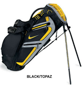 NIKE-PERFORMANCE-CARRY-STAND-BAG-BLACK-VARSITY-YELLOW-NEW