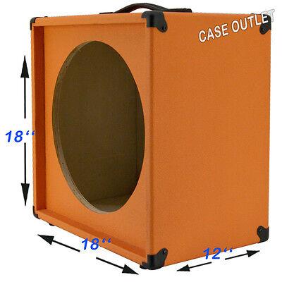 1x15 empty guitar speaker cabinet for 15 jbl e130 orange tolex ebay. Black Bedroom Furniture Sets. Home Design Ideas