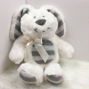 Dan-Dee-Collectors-Choice-Plush-Easter-Bunny-Rabbit-Grey-White-Stripe-Paws-Stuff