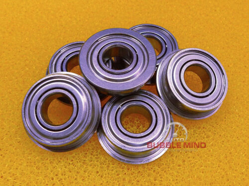"20PCS 3//8/"" x 7//8/"" x 9//32/"" Stainless Steel Flanged Ball Bearings FR6zz SFR6zz"