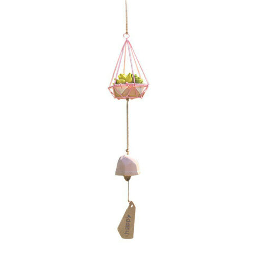 6650 Ceramics Wind Bell Simulations Succulent Plants Ornament Flower Pot