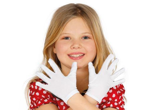 Handschuhe weiß Kinder Paar weiße Handschuhe Gloves Kids Guirca