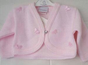 Baby-Girls-Spanish-Style-Pink-Bolero-Cardigan-with-butterflies