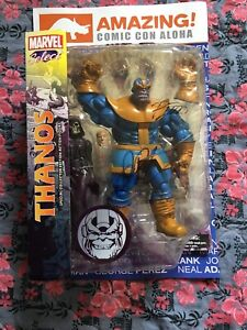 Marvel Select Thanos Signed Starlin Lim Infinity War Gauntlet Con