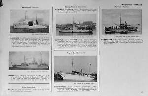 Old-Vintage-Print-1936-54-Ships-Dannebrog-Dominican-Republic-Flags-Navy-20th