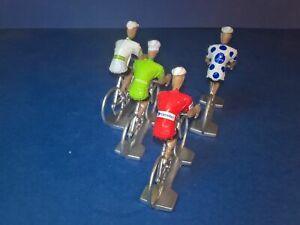 Lot-de-4-cyclistes-La-Vuelta-2019-Maillots-neutres-des-leaders-sponsors