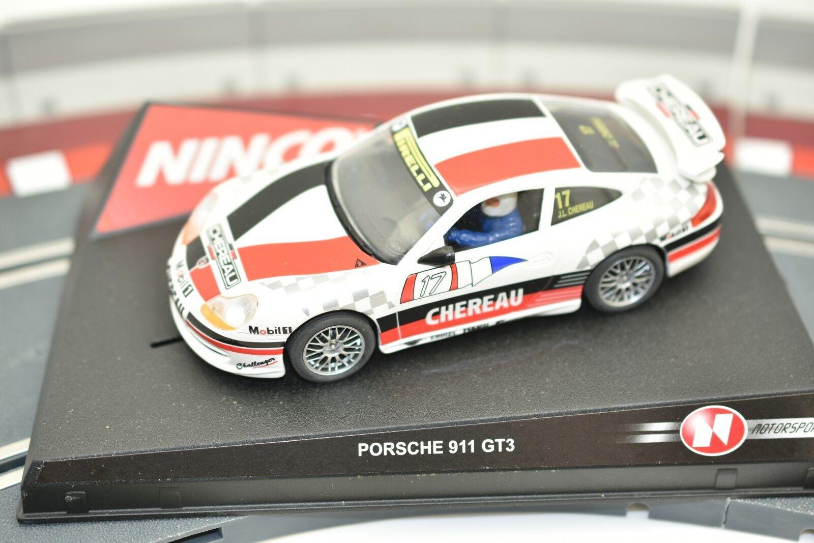 50227 NINCO 1 32 SLOT CAR PORSCHE 911 GT3  CHEREAU