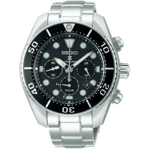 Seiko-Prospex-Sumo-Solar-Chronograph-Black-Men-039-s-Watch