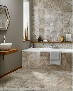 Image Is Loading 10 30m2 Insignia Beige Marble Effect Ceramic Bathroom