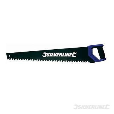 Silverline Hartmetall Fuchsschwanz Bausäge Säge 35 Zähne 700 mm für Beton Ziegel