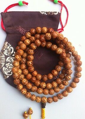 Tibetan Buddhist natural bodhi seed meditation Mala/prayer beads/ from boudhgaya