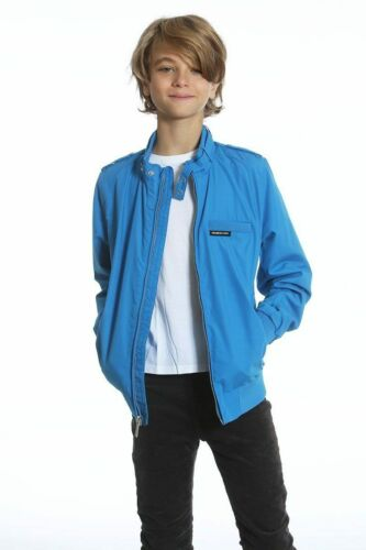 Members Only Iconic Racer Jacket Coat 18 + XL 14-16 - Red Blue NWT -Boy's L