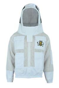 3 Layer Ultra Ventilated Bee Beekeeper Beekeeping Suit Fencing Veil 3XL