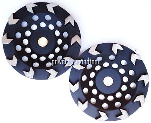 "2PK-7/"" Arrow Diamond Cup wheel Epoxy Urethane Mastic Abrasive Joint Spot 5//8-7//8"
