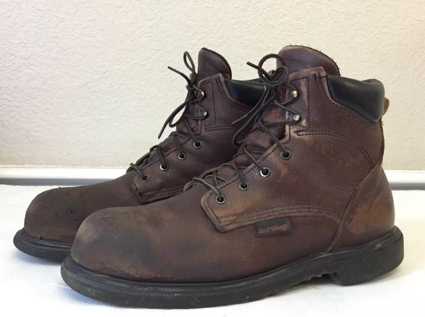 Ala roja para hombre 2406 botas De Cuero D acero dedo eléctricos peligro
