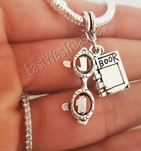 Read Reading Book  Jewelry Gift pendant-for Bracelet necklace Women girls her