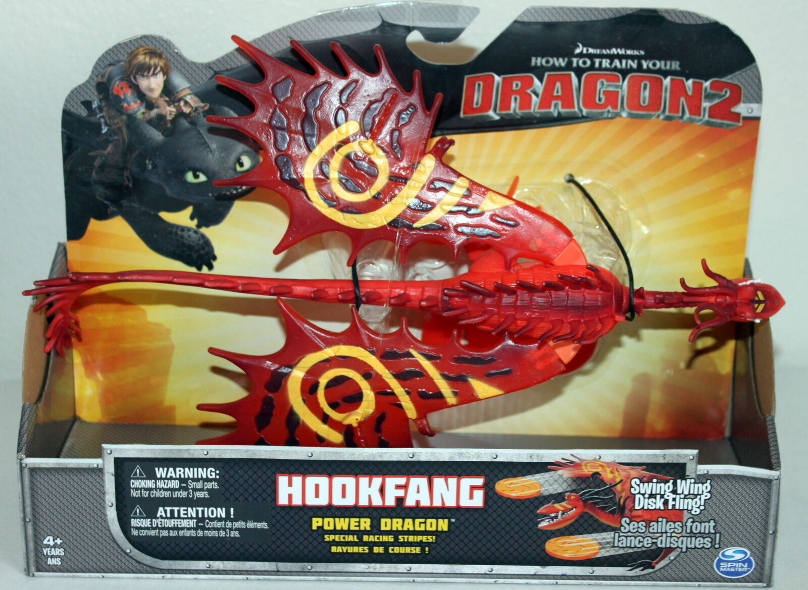 HTTYD How to Train Your Dragon Spin Master Toy Figurine HOOKFANG Power Dragon