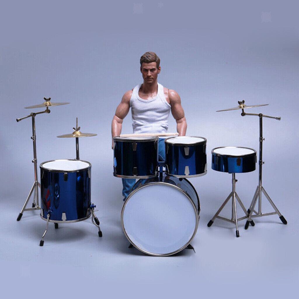 1 6 Miniature Drum Kit Drum Set Réplique Modèle Hobby Collection Cadeaux