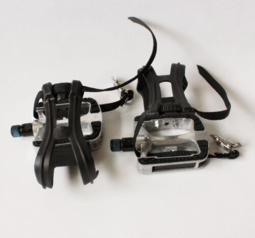 Exercise Spinning Bike Pedals Straps Toe Clip Cleats//SPD 9//16 5//8 M18 M20 JD-304